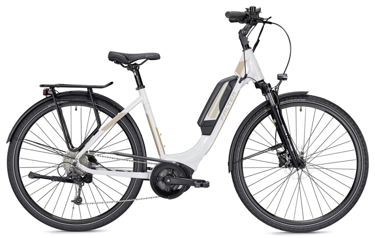 Falter E 9.0 RD 400 Wh Wave weiß/champagner Details