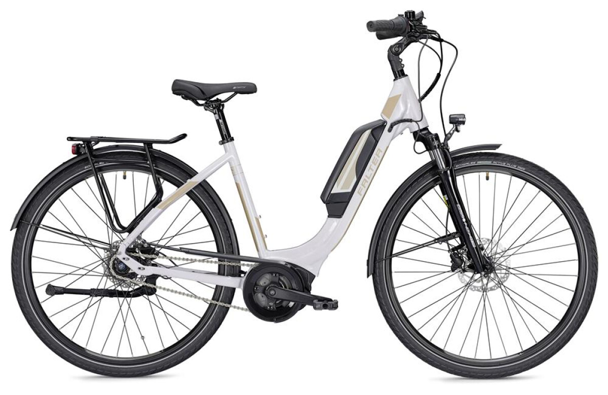 Falter E 9.0 RT 500 Wh weiß/champagner Details