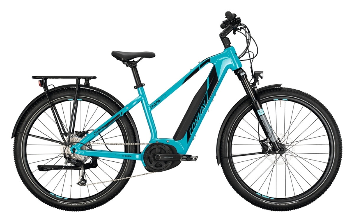 Conway Cairon C 227 Trapez turquoise / black Details