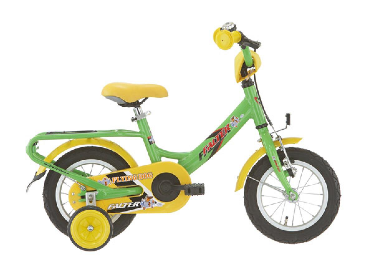 Falter Kinderrad 12 Zoll grün/gelb Details