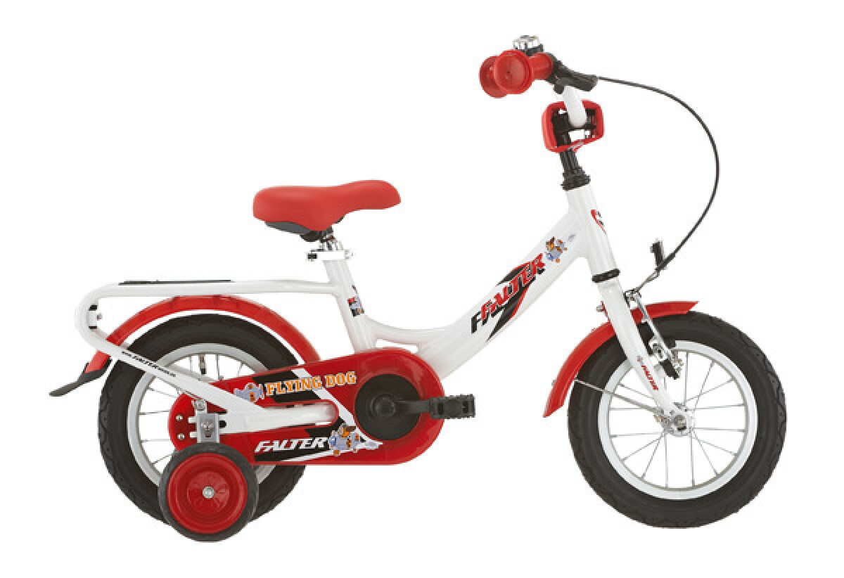 Falter Kinderrad 12 Zoll weiß/rot Details