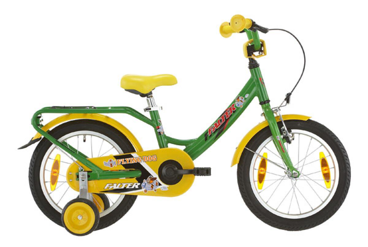 Falter Kinderrad 16 Zoll grün/gelb Details