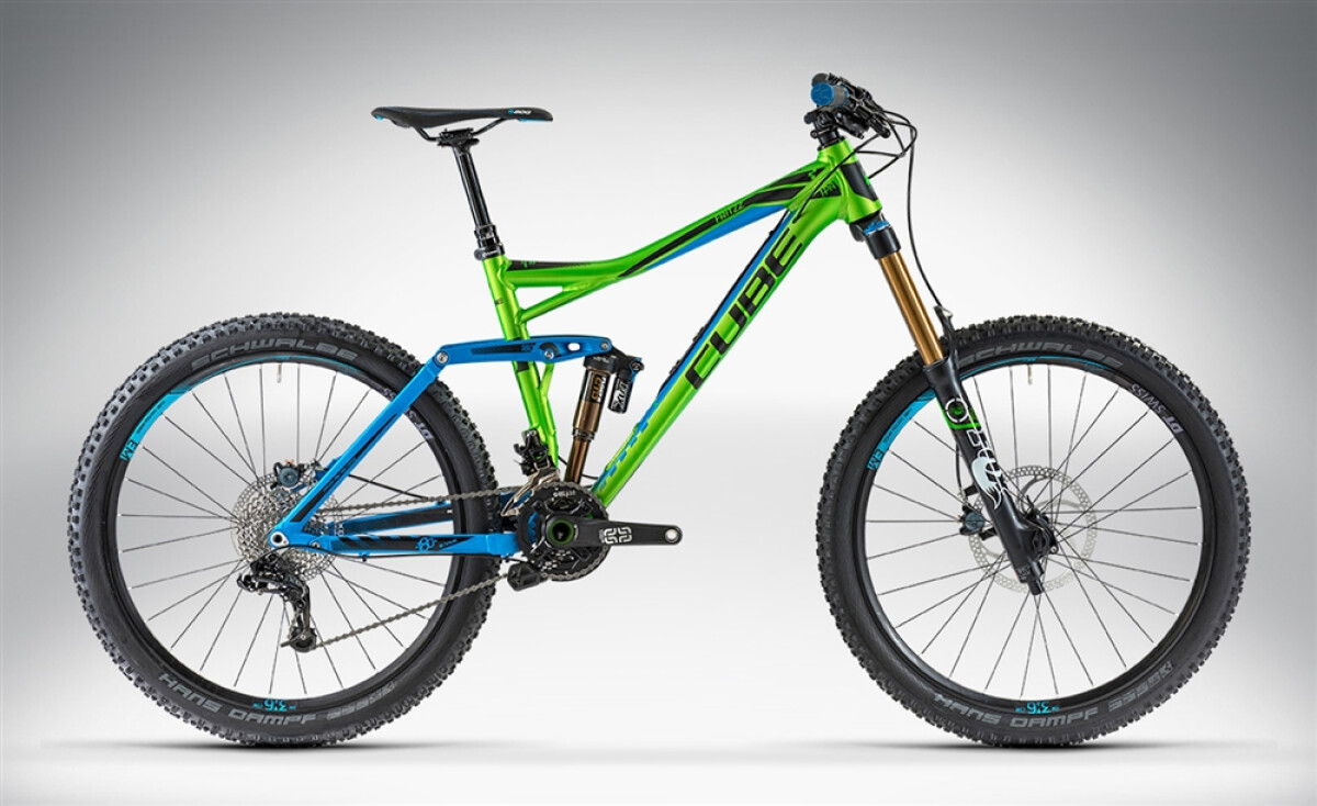 Cube FRITZZ 180 HPA SL 26 green'n'blue Details