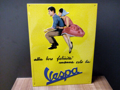 Nostalgische Vespa Blechschilder