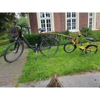 City Fahrrad mit Abschleppstang