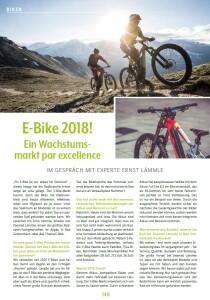 E-Bike 2018! Ein Wachstumsmarkt par excellence