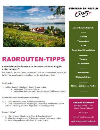 Tourenvorschläge ab Weildorf