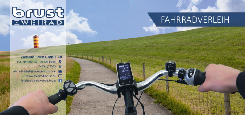 Unser Fahrradverleih-Flyer