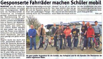 Gesponserte Fahrräder machen ...