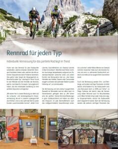Fahrrad-Vermessung für jede Kategorie!