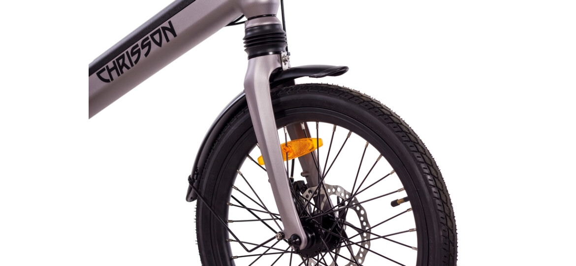 Chrisson Kompaktrad E-Bike ERTOS20 grau matt