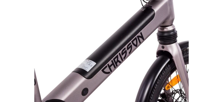 Chrisson Kompaktrad E-Bike ERTOS20 grau matt
