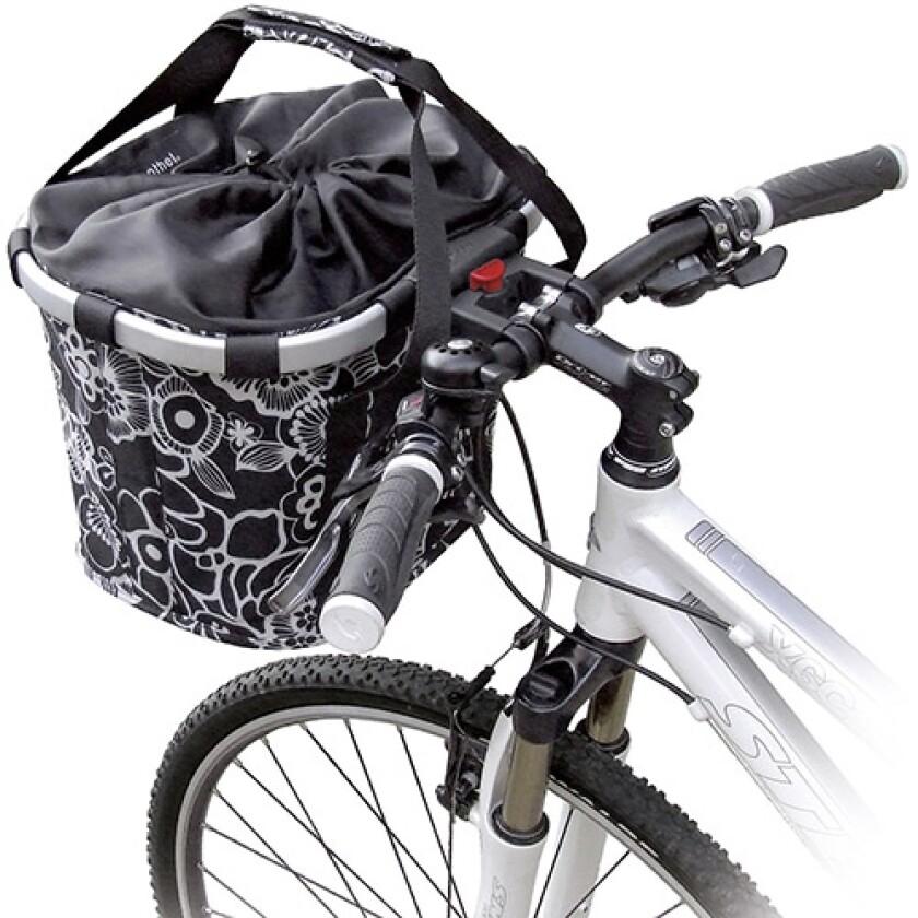 KlickFix Bikebasket Fleur Schwarz 15 l Volumen