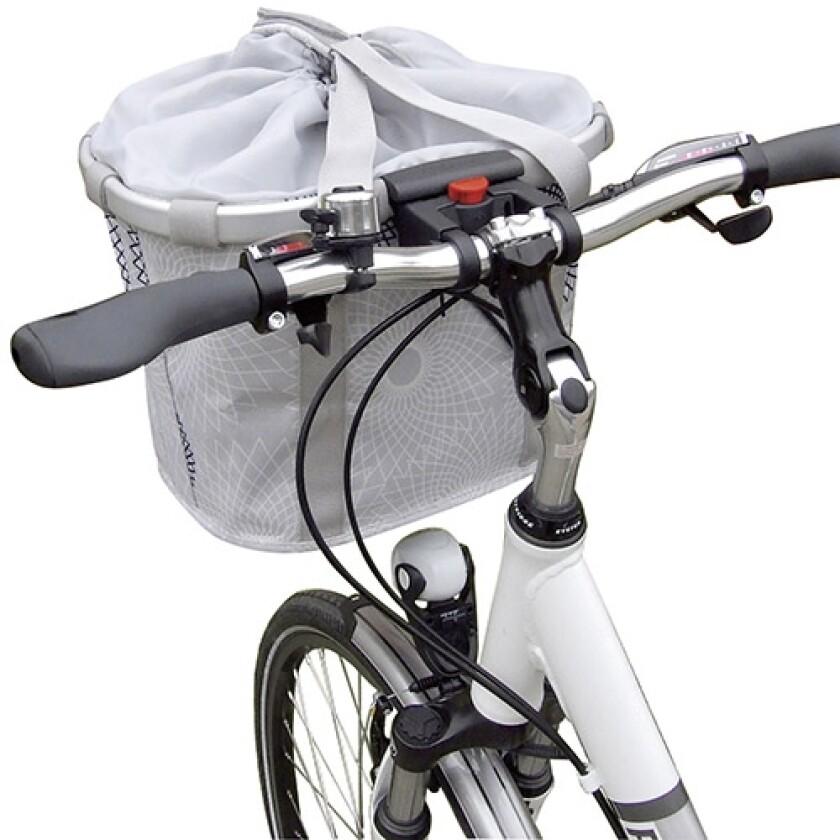 KlickFix Bikebasket Crystal Light Grey 15 l Volumen