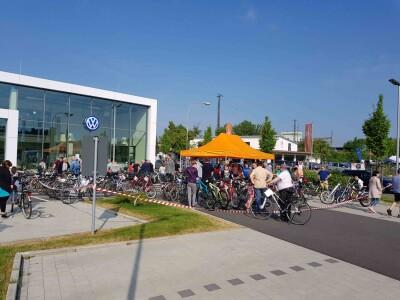Fahrradflohmarkt mit Codieraktion ADFC