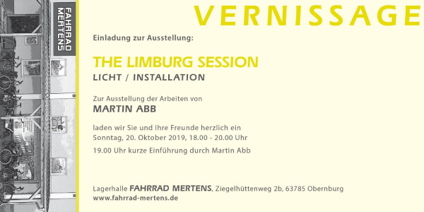 Einladung zur Vernissage THE LIMBURG SESSION
