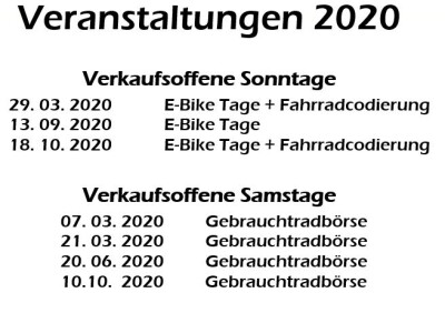 Veranstaltungen 2020