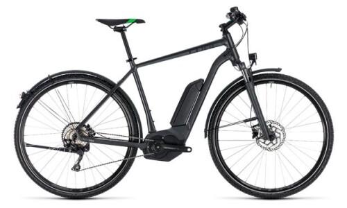 Cube Cross Hybrid Pro, grey´n flashgreen von Bike Service Gruber, 83527 Haag in OB