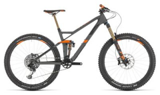 Cube Stereo 140 HPC TM 27,5 grey n orange von Radsport Ilg OHG, 73479 Ellwangen