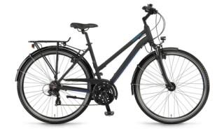 Winora Domingo 21, Trapez, Black/Blue matt von Bike & Co Hobbymarkt Georg Müller e.K., 26624 Südbrookmerland