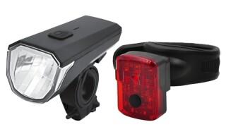 Matrix LED Akku-Leuchtenset BLS 25 von WIECK fahrrad & zubehör, 24601 Wankendorf