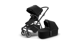 Thule Thule Sleek + Thule Sleek Bassinet - Black on Black (2020) incl. Versand von Fahrradwelt International, 52441 Linnich