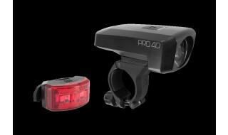 Cube ACID Beleuchtungsset PRO 40 black von Fahrrad Imle, 74321 Bietigheim-Bissingen