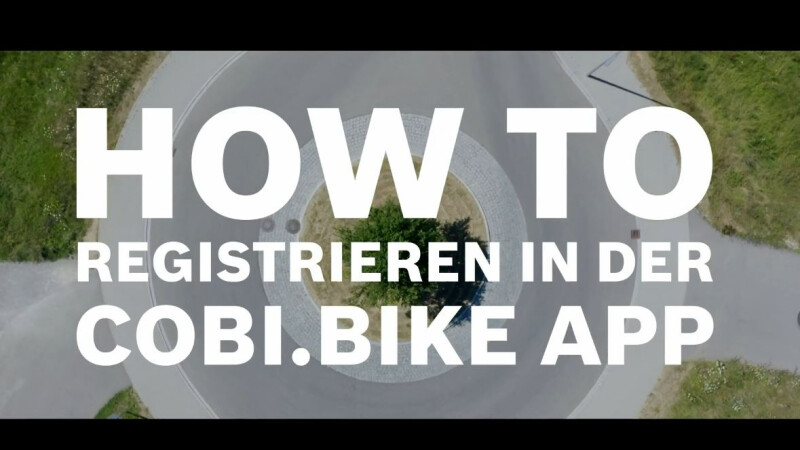 BOSCH - Registrieren in der COBI.Bike App
